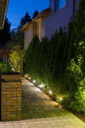 Outdoor Lighting landscape pavers columns