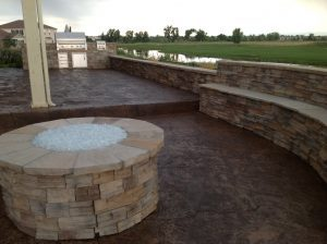 fire pit fire place out side fire pit stamped concrete