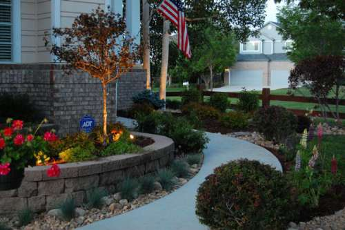 landscapes retaining wall