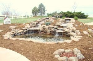 landscapes waterfall water feature