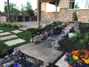 waterfall landscaping water feature